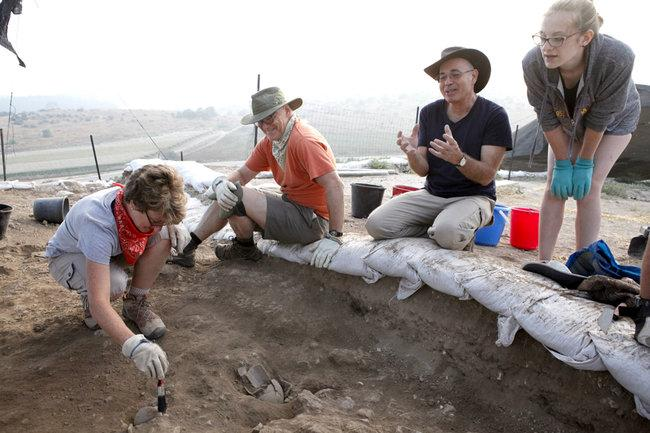 at an excavation