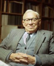 Prof. Benjamin Mazar (photo courtesy of the B. Mazar archive)